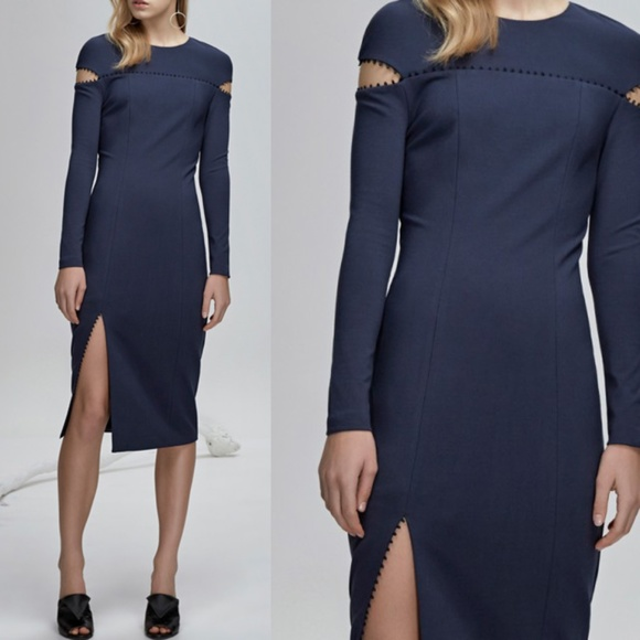c4fc964954 NWT Finders Long Sleeve Fitted Bodycon Slit Dress